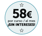 Ahora este curso por sólo 58€/mes